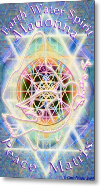 Earth Water Spirit Madonna Peace Matrix Metal Print