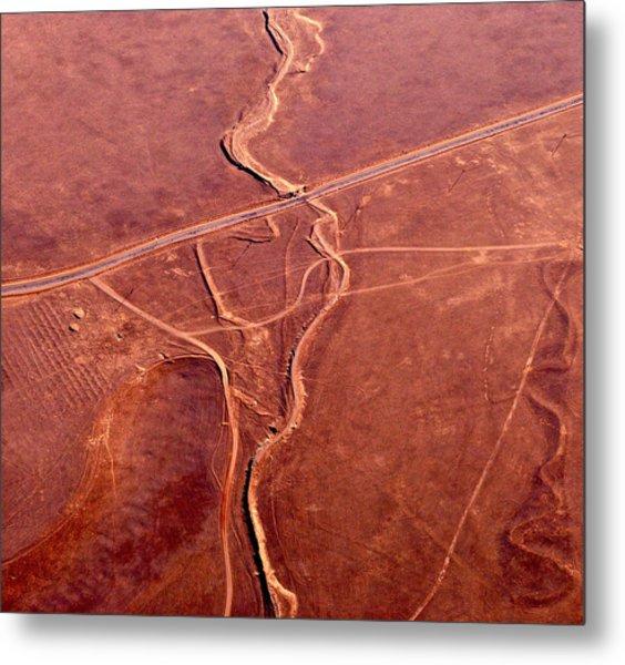 Earthmarks 6 Metal Print by Sylvan Adams