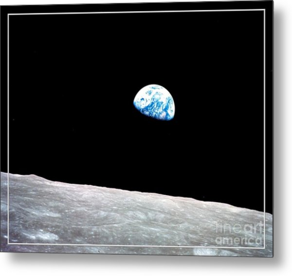 Metal Print featuring the photograph Earthrise Nasa by Rose Santuci-Sofranko