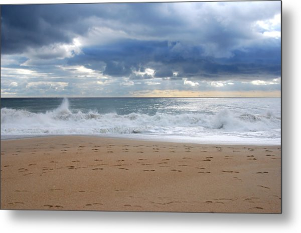 Earth's Layers - Jersey Shore Metal Print