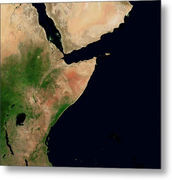 East Africa And Middle East Metal Print