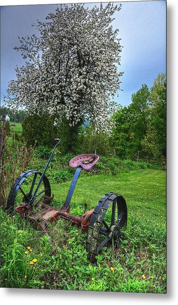 East Albany Mower Metal Print