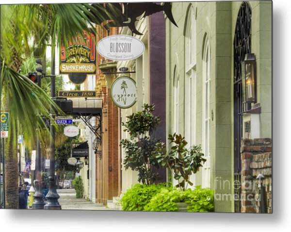 East Bay Street Charleston Sc Metal Print