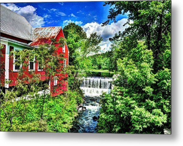 East Calais Water Powered Mill Metal Print