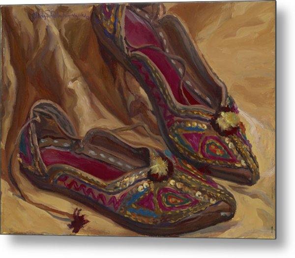 East Indian Shoes Metal Print