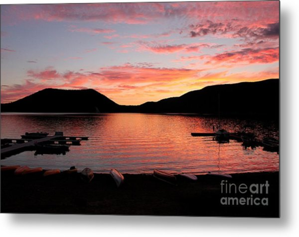 East Lake Sunset Metal Print