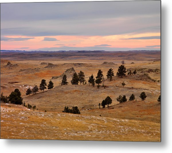 East Montana Country Metal Print by Leland D Howard