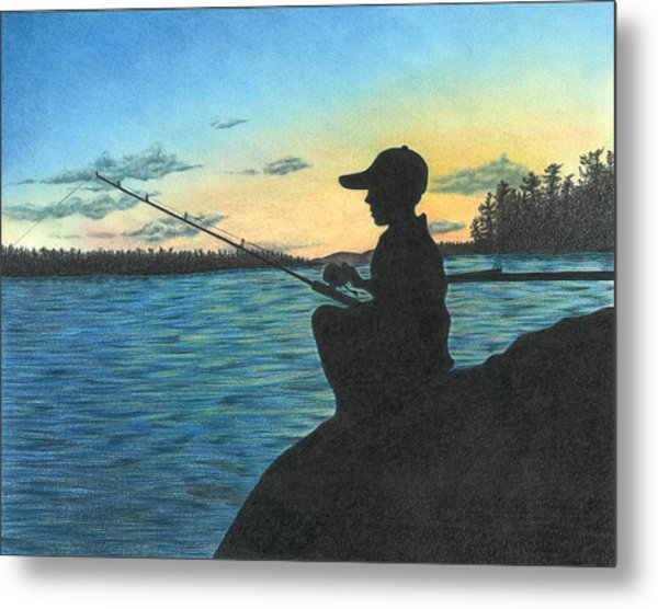 East Pond Metal Print