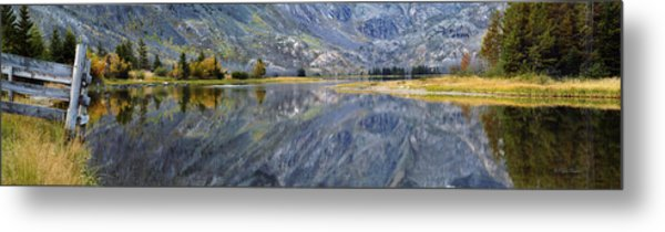 East Rosebud Lake Fall Panorama Metal Print