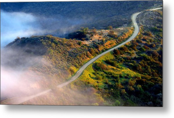 East Topanga Fire Road Metal Print by Catherine Natalia  Roche