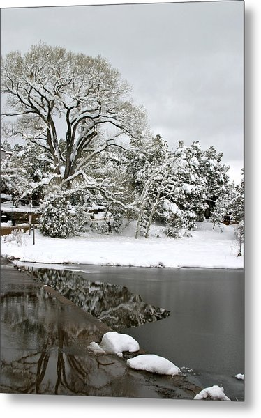 East Verde Winter Crossing Metal Print