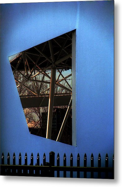 East Wall Of The Marcus Amphitheater At Summerfest Metal Print by David Blank