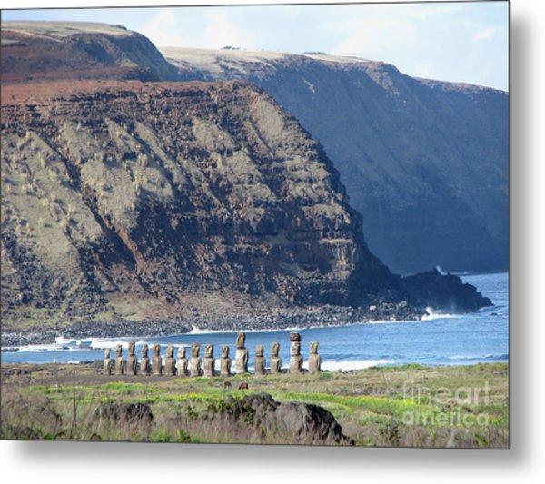 Easter Island Requiem Metal Print