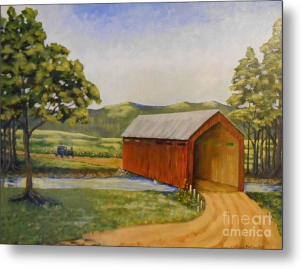 Eastern Covered Bridge Metal Print