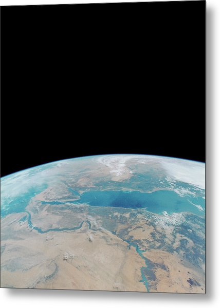 Eastern Egypt From Space Shuttle Metal Print