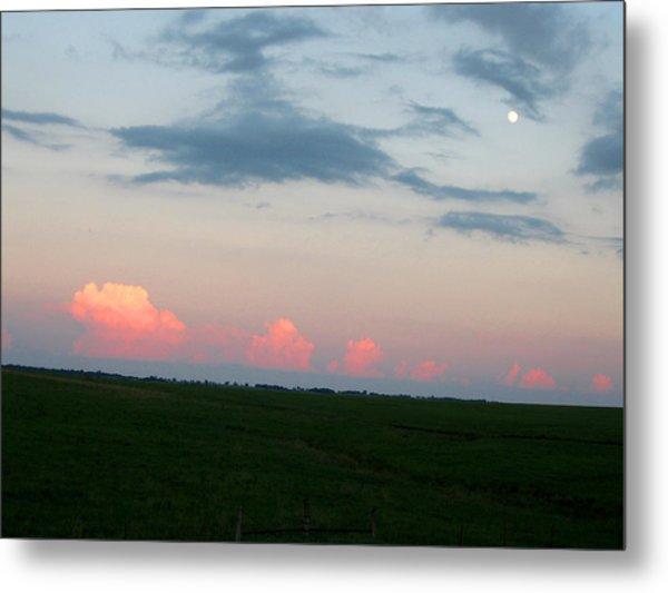 Eastern Kansas Moonrise Metal Print