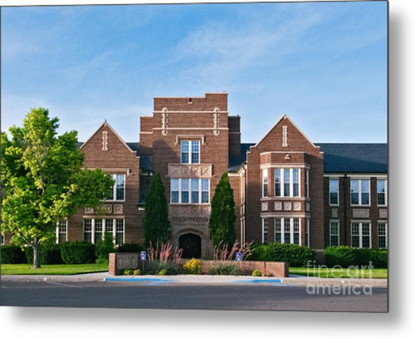 Metal Print featuring the photograph Eastern New Mexico Administration by Mae Wertz