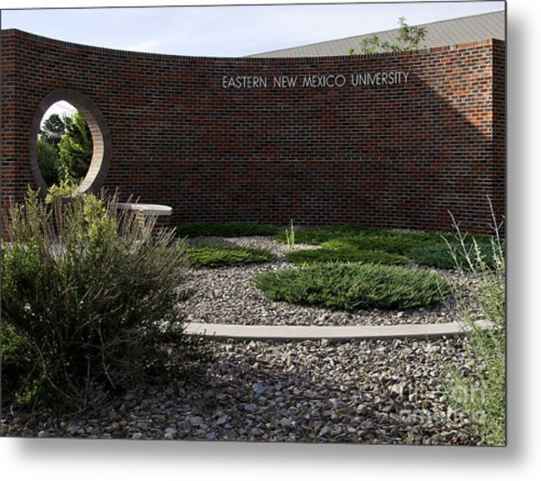Metal Print featuring the photograph Eastern New Mexico University by Mae Wertz