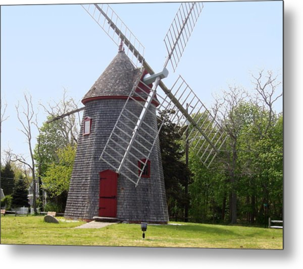 Eastham Windmill Metal Print by Catherine Gagne