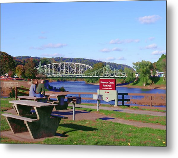Easton Pa - Delaware Canal State Park Metal Print by Jacqueline M Lewis