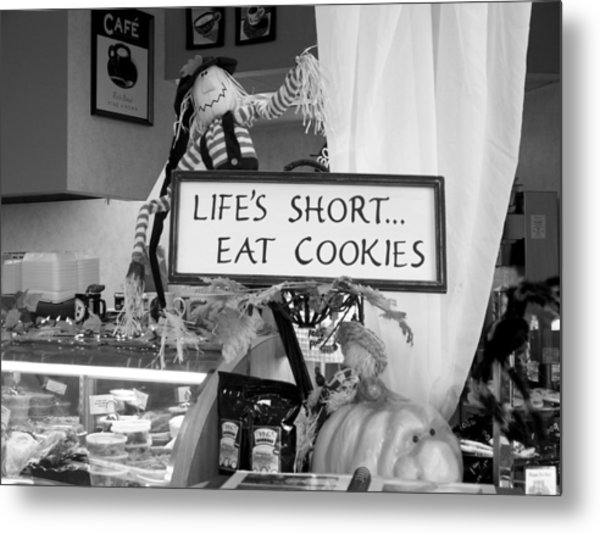 Eat Cookies Metal Print