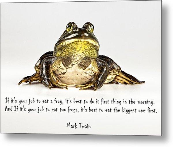 Eat Frog Metal Print