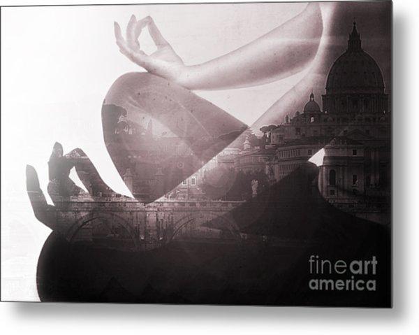 Eat Pray Love In Rome Metal Print