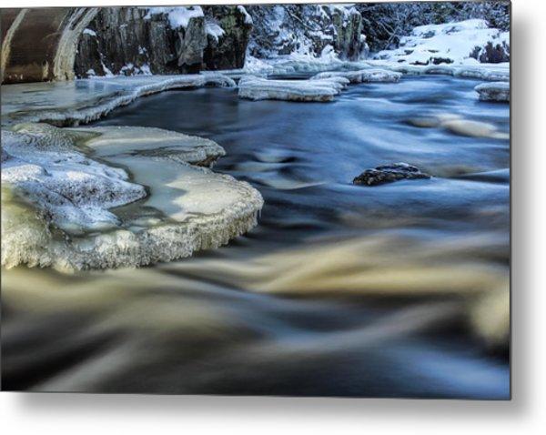 Eau Claire River Ice Metal Print