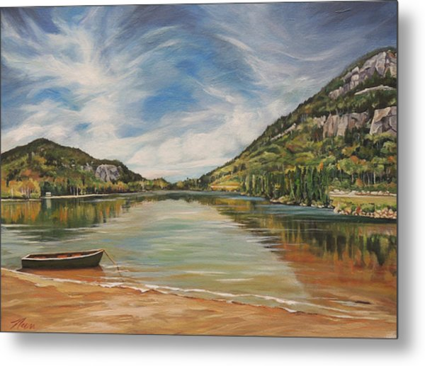 Echo Lake In Franconia Notch New Hampshire Metal Print