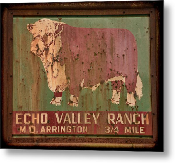 Echo Valley Ranch Metal Print