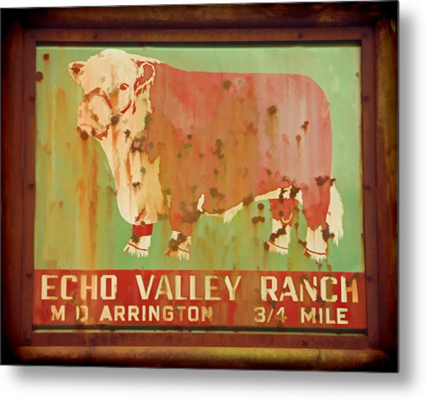 Echo Valley Ranch Stylized Metal Print