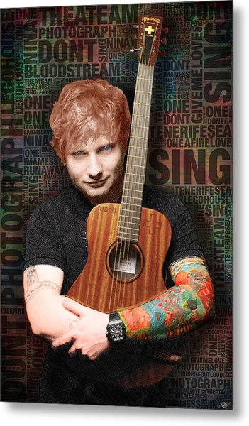 Ed Sheeran And Song Titles Metal Print