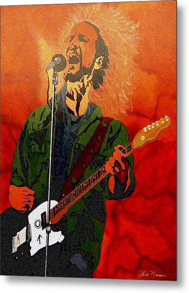 Eddie Vedder-eddie Live Metal Print