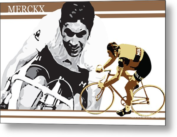 Eddy Merckx Metal Print