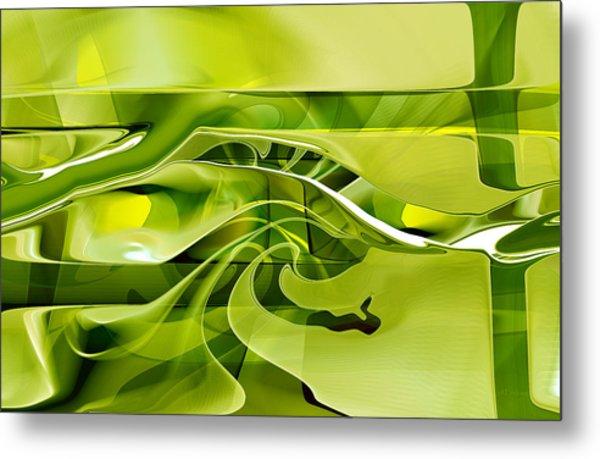 Metal Print featuring the digital art Eden 1 - The Serpent by rd Erickson