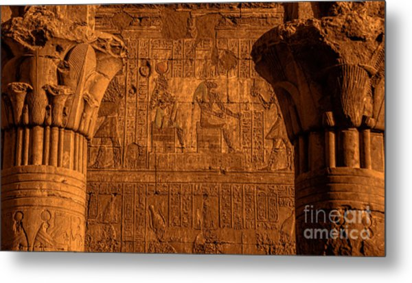 Edfu Temple Metal Print