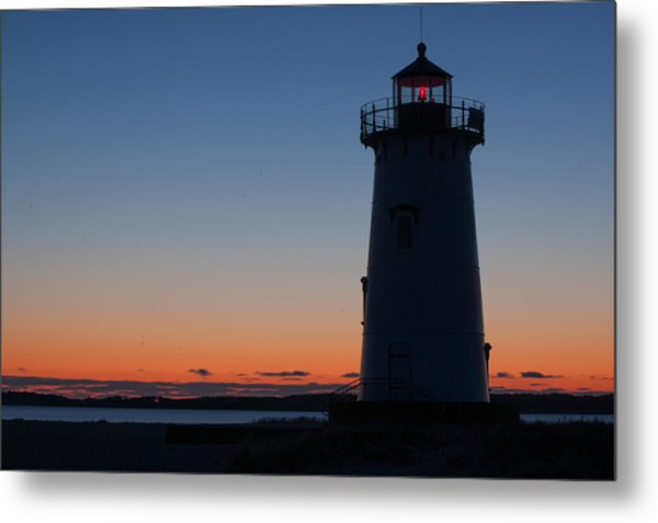 Edgartown Light At Sunrise Metal Print