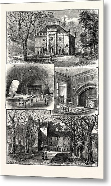Edinburgh 1. The Hermitage Braid 2. Craig House 3 Metal Print by English School