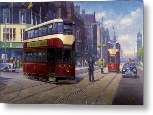 Edinburgh Tram 1953. Metal Print