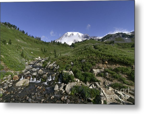 Edit Creek Basin Metal Print
