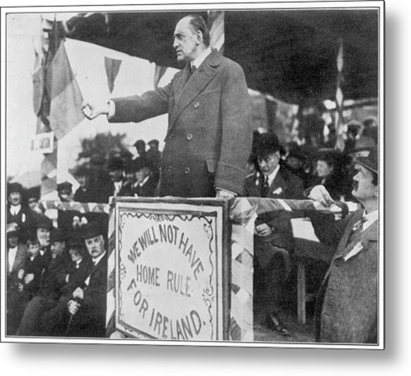 Edward Carson, Leader Of The  Irish Metal Print by Mary Evans Picture Library