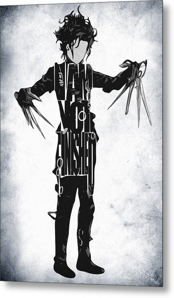 Edward Scissorhands - Johnny Depp Metal Print