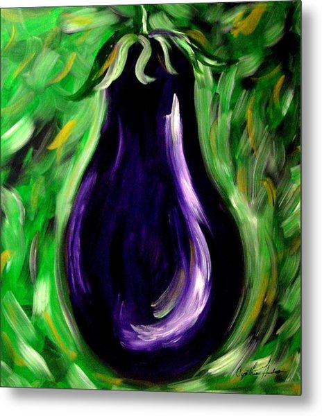 Eggplant Metal Print by Cynthia Hudson