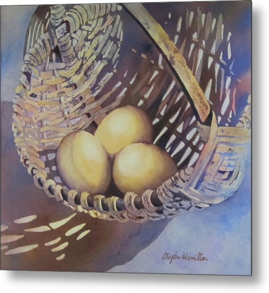 Eggs In A Basket II Metal Print by Daydre Hamilton