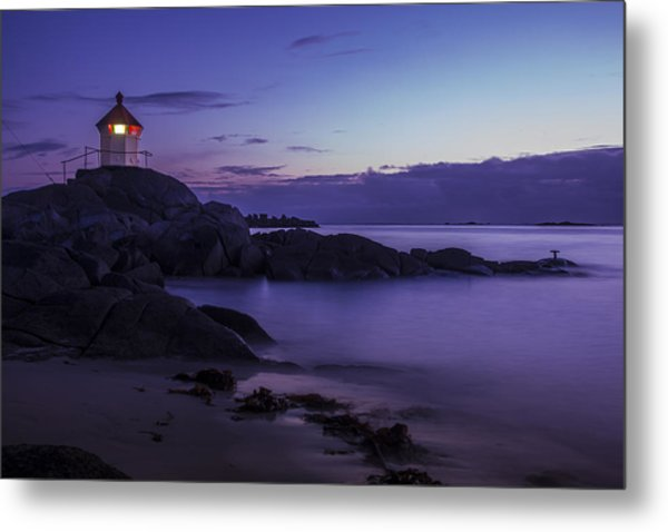 Eggum Lighthouse Metal Print