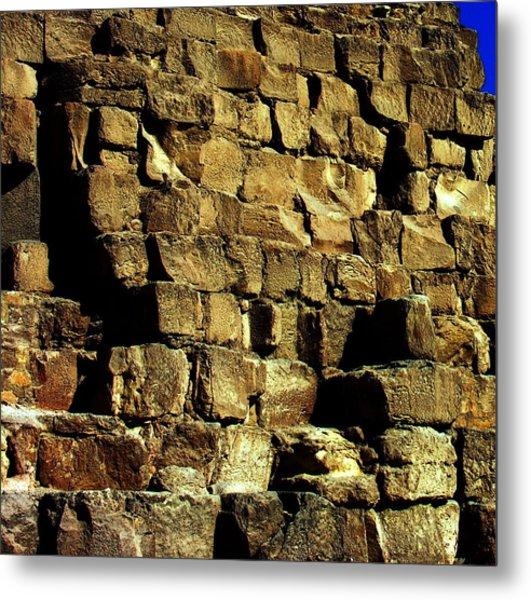 Giza Pyramid - Detail Metal Print by Jacqueline M Lewis
