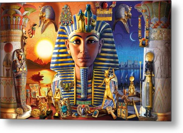 Egyptian Treasures II Metal Print