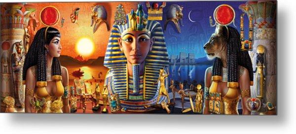 Egyptian Triptych 2 Metal Print
