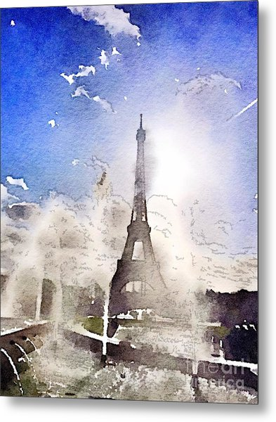 Eiffel During Summer Metal Print