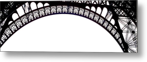 Eiffel Tower Abstract Metal Print by Mary Bedy